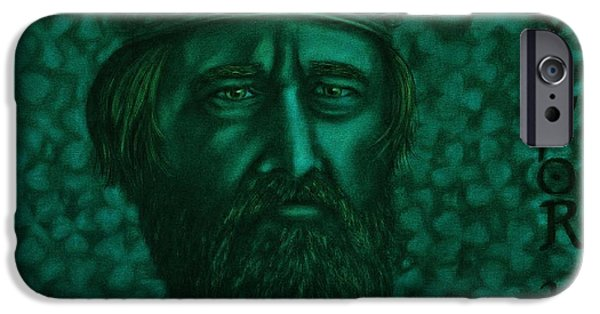 Religious Drawings iPhone Cases - St Patrick iPhone Case by Jered Klodt