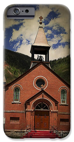 St. Patrick Silverton Colorado iPhone Case by Janice Rae Pariza