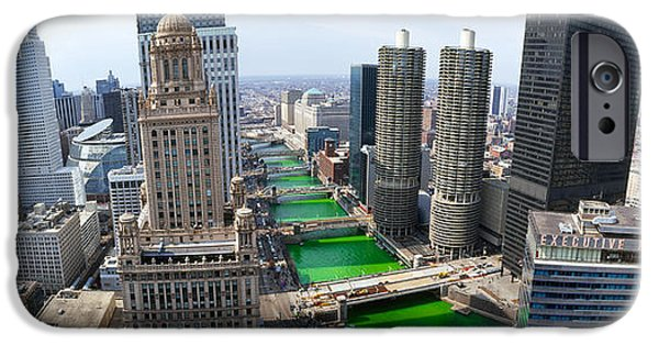 Il iPhone Cases - St. Patricks Day Chicago Il Usa iPhone Case by Panoramic Images