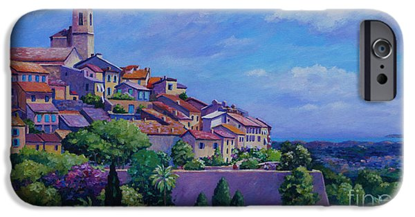Loup iPhone Cases - St. Paul de Vence Panoramic iPhone Case by John Clark