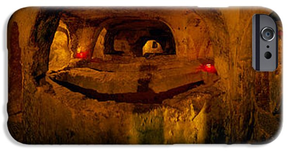 Rabat Photographs iPhone Cases - St. Pauls Catacombs, Rabat, Malta iPhone Case by Panoramic Images