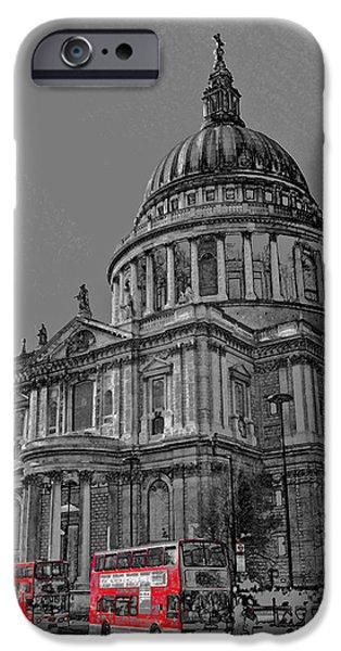St Paul's Cathedral London Art iPhone Case by David Pyatt