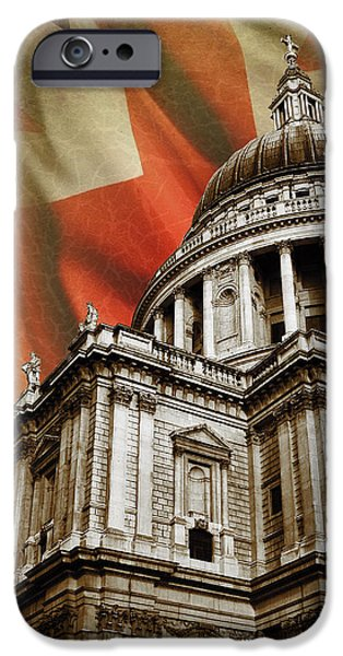 St Photographs iPhone Cases - St Pauls Cathedral iPhone Case by Mark Rogan