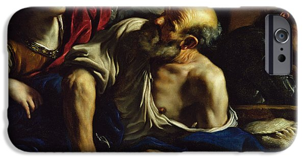 Prison iPhone Cases - St. Peter Freed By An Angel Oil On Canvas iPhone Case by Guercino