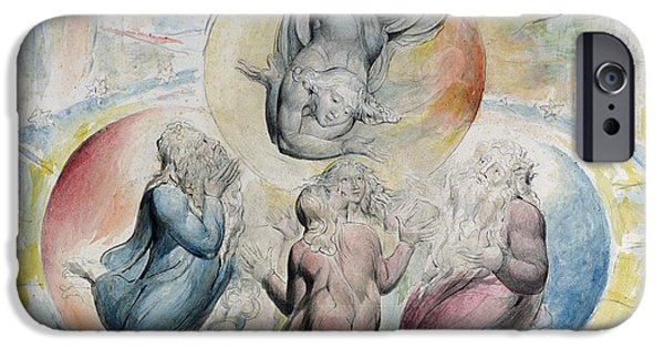 William Blake iPhone Cases - St. Peter St. James Beatrice and Dante iPhone Case by William Blake