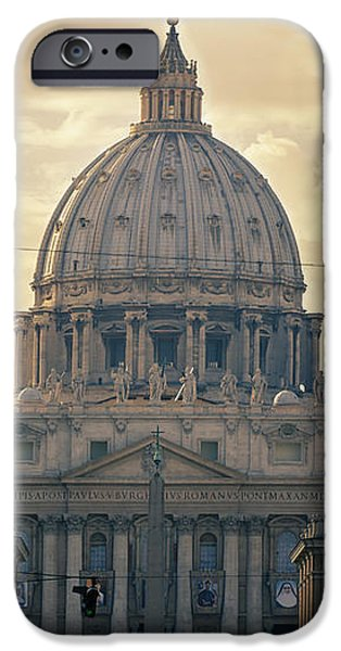 St Peter's Afternoon Glow iPhone Case by Joan Carroll