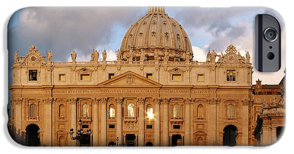 Study iPhone Cases - St. Peters Basilica iPhone Case by Adam Romanowicz