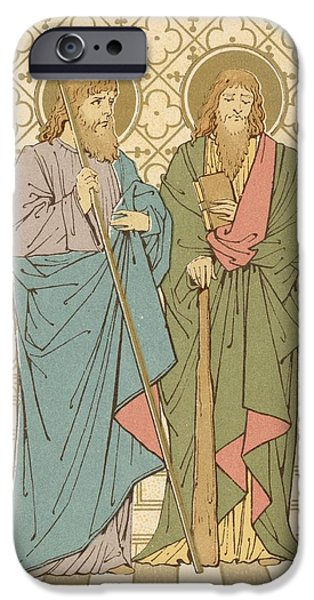 Robe Drawings iPhone Cases - St Philip and St James iPhone Case by English School
