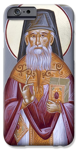 St Porphyrios Paintings iPhone Cases - St Porphyrios the Kavsokalyvitis iPhone Case by Julia Bridget Hayes