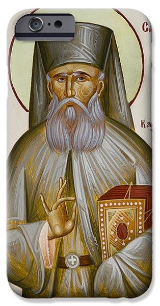 St Savvas of Kalymnos iPhone Case by Julia Bridget Hayes