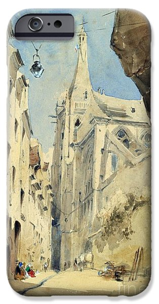 Alley Paintings iPhone Cases - St. Severin Paris iPhone Case by James Holland