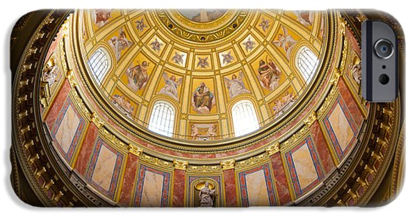 Dave iPhone Cases - St. Stephens Basilica Ceiling iPhone Case by Dave Bowman