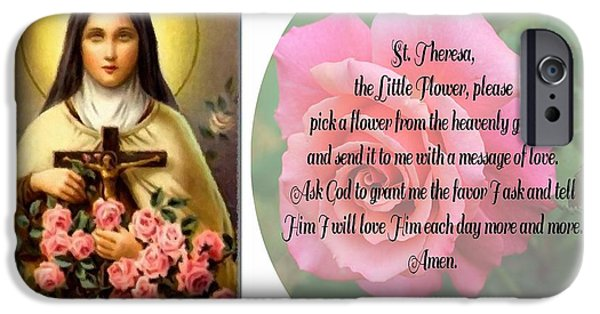 I Ask iPhone Cases - St. Theresa Prayer  iPhone Case by Barbara Griffin
