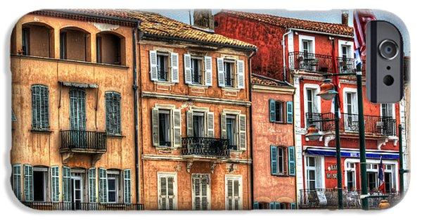 St.tropez iPhone Cases - St. Tropez Painted Ladies iPhone Case by Bruce Swindlehurst