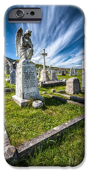 Grave Yard iPhone Cases - St Tudno Graveyard iPhone Case by Adrian Evans