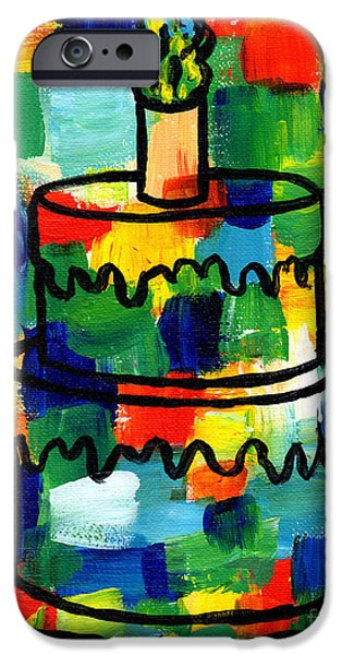 Genevieve Esson iPhone Cases - STL250 Birthday Cake Abstract iPhone Case by Genevieve Esson