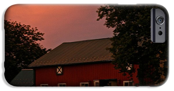 Equestrian Center iPhone Cases - Stable Barn iPhone Case by Susan Herber