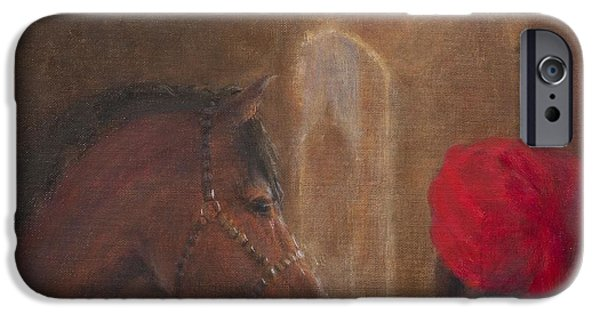 Stable iPhone Cases - Stables, Jodhpur, 2014 Oil On Canvas iPhone Case by Lincoln Seligman