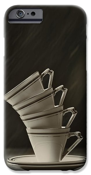 Coffee Drinking iPhone Cases - Stack Of Cups iPhone Case by Amanda And Christopher Elwell