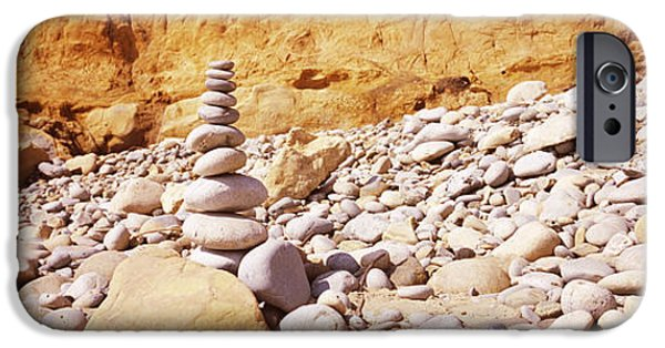 Stability iPhone Cases - Stack Of Stones On The Beach iPhone Case by Panoramic Images