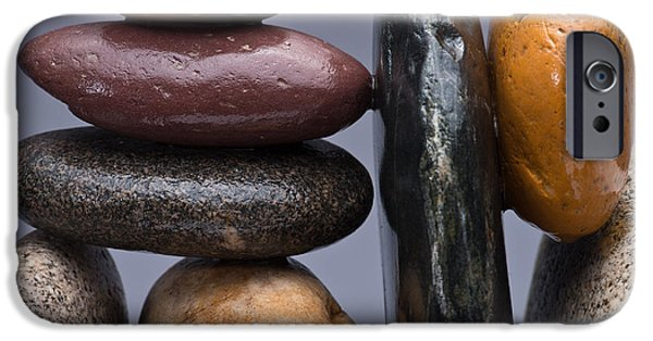 Pebbles iPhone Cases - Stacked Stones 2 iPhone Case by Steve Gadomski