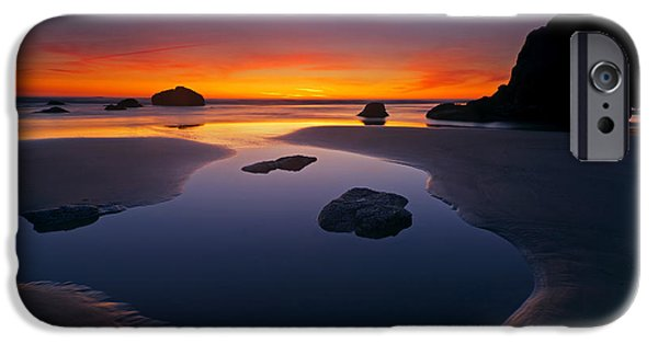 Seascape iPhone Cases - Stacks and Stones iPhone Case by Mike  Dawson