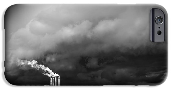 Power iPhone Cases - Stacks in the Clouds iPhone Case by Marvin Spates