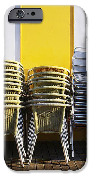 Stacks of Chairs and Tables iPhone Case by Carlos Caetano