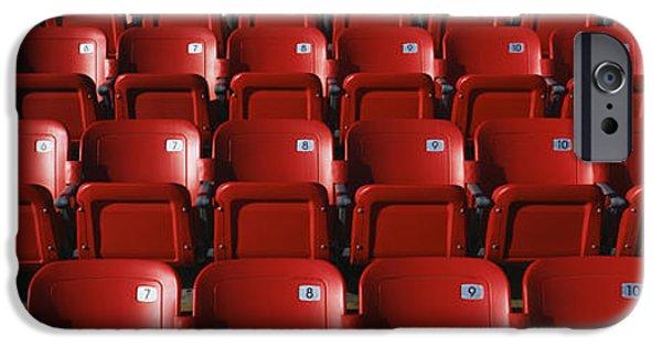 Graphic Design iPhone Cases - Stadium Seats iPhone Case by Panoramic Images