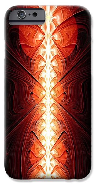 Weapon iPhone Cases - Staff of Fire iPhone Case by Anastasiya Malakhova
