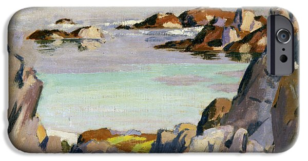 Colorist iPhone Cases - Staffa and Rhum from Iona iPhone Case by Francis Campbell Boileau Cadell