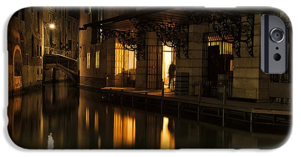 Venetian Canals iPhone Cases - Stage Door iPhone Case by Marion Galt
