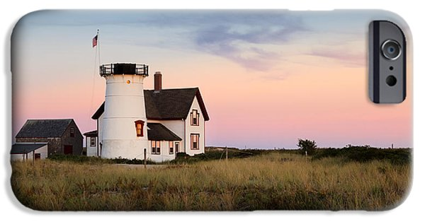 Cape Cod Lighthouse iPhone Cases - Stage Harbor light iPhone Case by Bill  Wakeley
