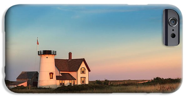 New England Lighthouse iPhone Cases - Stage Harbor Lighthouse iPhone Case by Bill  Wakeley