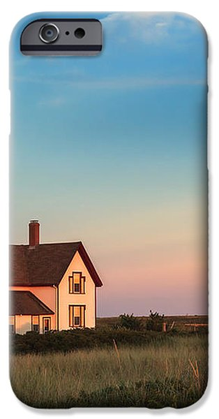 Stage Harbor Lighthouse iPhone Case by Bill  Wakeley