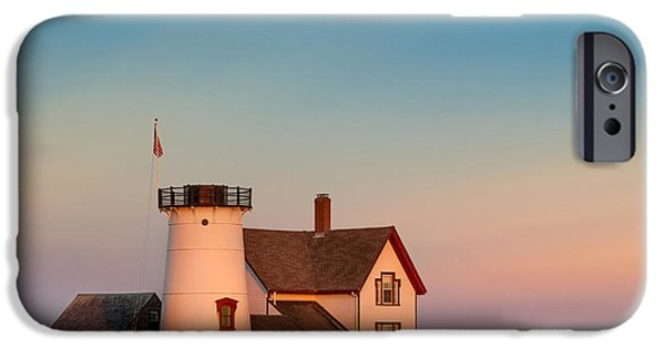 Chatham iPhone Cases - Stage Harbor Lighthouse Square iPhone Case by Bill  Wakeley