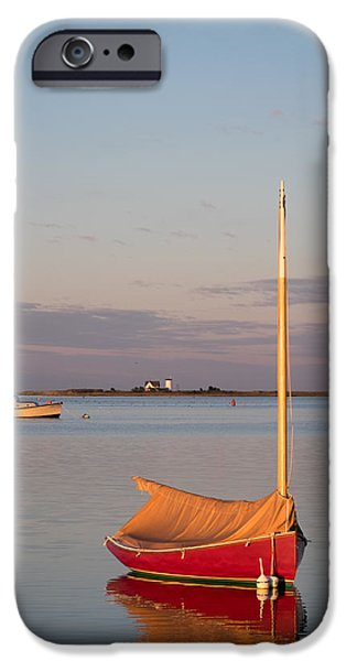 Chatham iPhone Cases - Stage Harbor Morning on Cape Cod iPhone Case by Betty Wiley