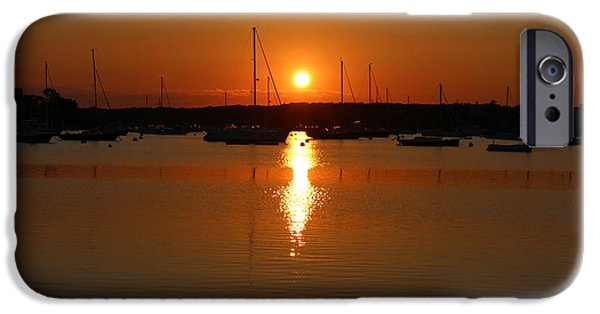 Chatham iPhone Cases - Stage Harbor Sunset iPhone Case by Amy Rounseville