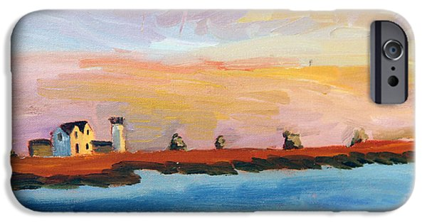 Recently Sold -  - Sailboat iPhone Cases - Stage Harbor Sunset iPhone Case by Michael Helfen