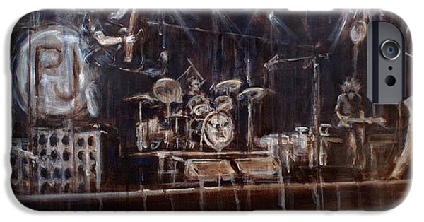 Pearl Jam Paintings iPhone Cases - Stage iPhone Case by Josh Hertzenberg