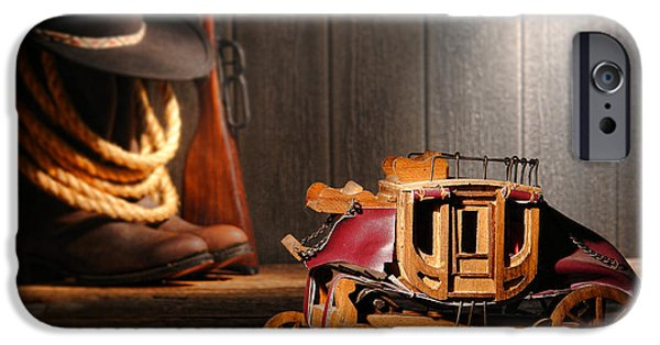 Gear iPhone Cases - Stagecoach Dream iPhone Case by Olivier Le Queinec