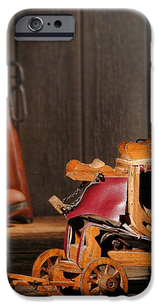 Stagecoach Dream iPhone Case by Olivier Le Queinec
