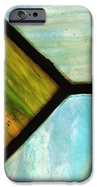 Close Up Glass iPhone Cases - Stained Glass 6 iPhone Case by Tom Druin