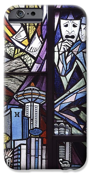 Skylines Glass Art iPhone Cases - Stained Glass iPhone Case by Mountain Dreams