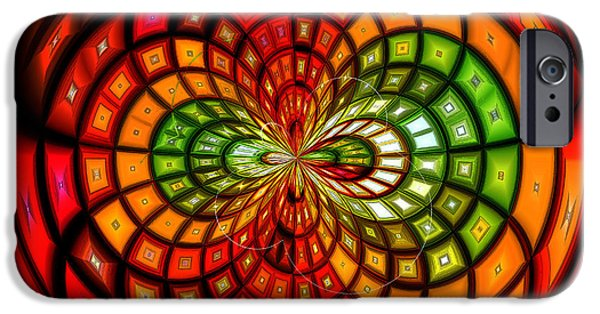 Asymmetrical iPhone Cases - Stained Glass Fruit Salad iPhone Case by Shawna  Rowe