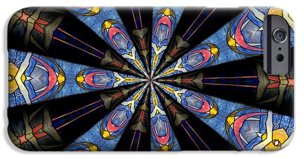 Artists4god iPhone Cases - Stained Glass Kaleidoscope 28 iPhone Case by Rose Santuci-Sofranko