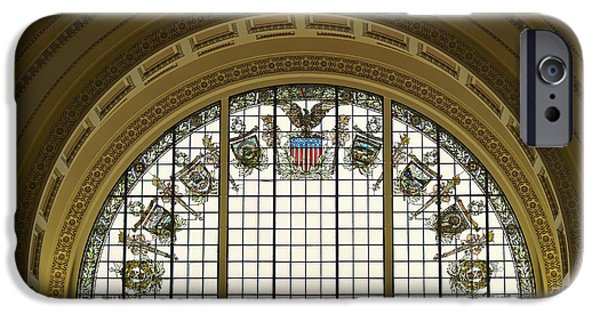 Interior Glass iPhone Cases - Stained Glass - Library of Congress iPhone Case by Mountain Dreams
