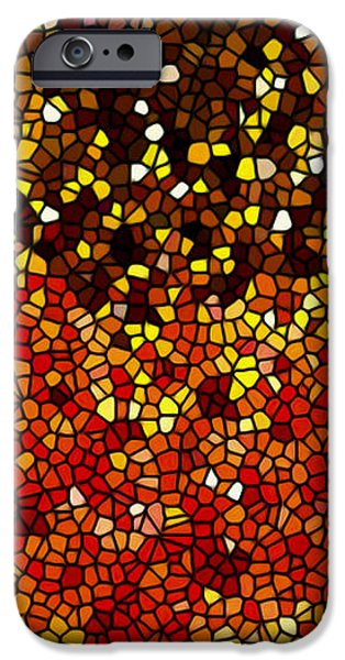 Stained Glass Sunflower Closeup iPhone Case by Lanjee Chee