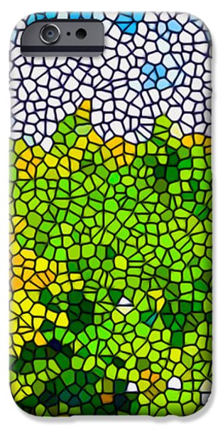 Stained Glass Sunflowers iPhone Case by Lanjee Chee