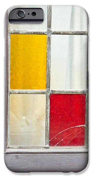 Abstract Forms Photographs iPhone Cases - Stained glass iPhone Case by Tom Gowanlock